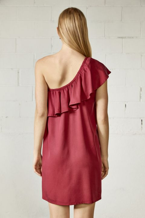 JALILA  DRESS, BORDEAUX