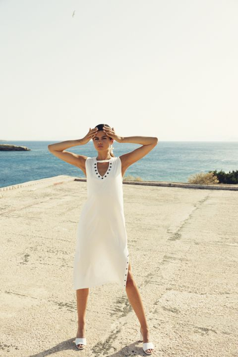 Malise Dress, OFF WHITE