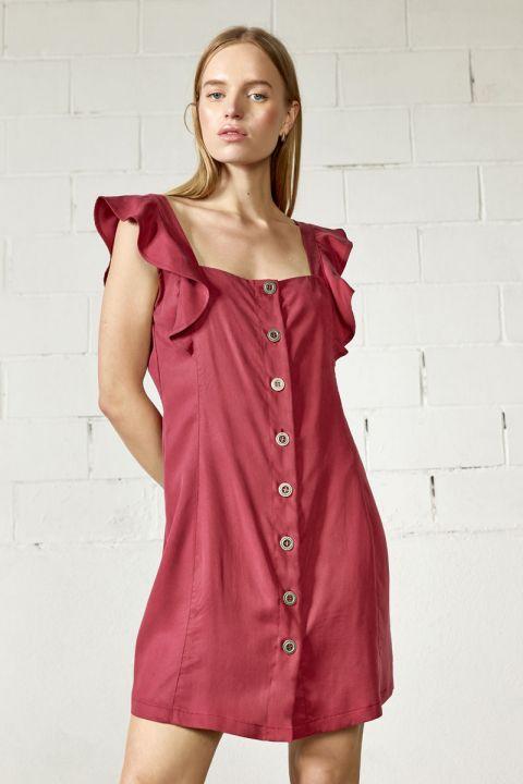 MARIELLA  DRESS, BORDEAUX