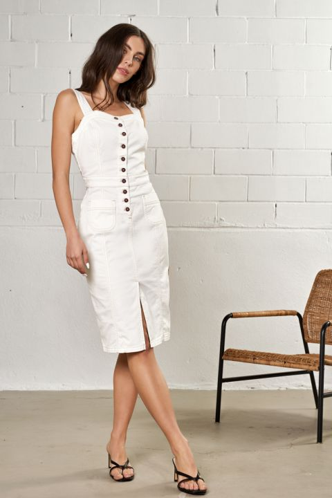 Zoey-Rms Dress, OFF WHITE