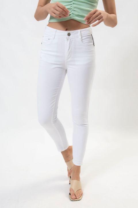 DORIE-RMS PANTS, WHITE