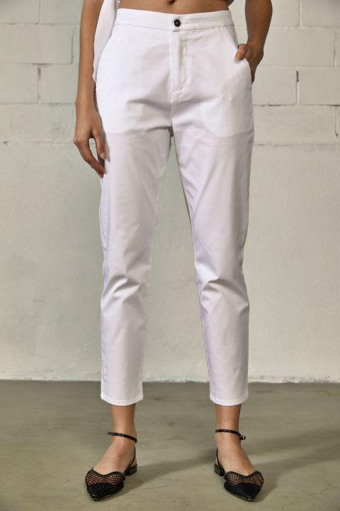 LAQUETA-S21 PANTS, WHITE