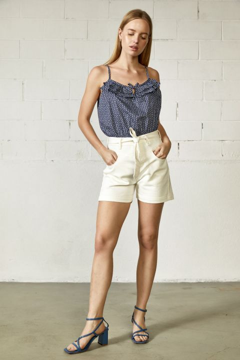 Lian-Rms Shorts, WHITE