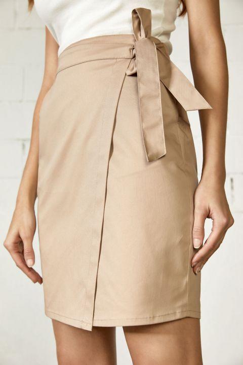 Carlena-V Skirt, BEIGE