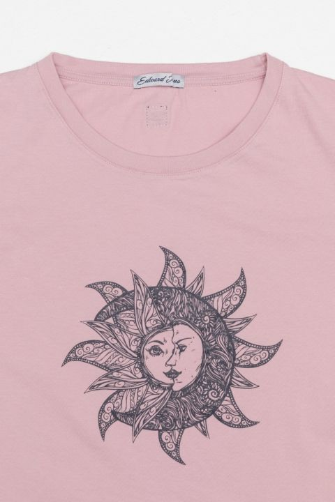 GABLE T-SHIRT, OLD ROSE