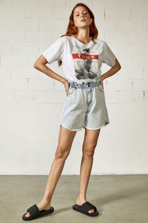 Panic T-Shirt, GRAY MELANGE