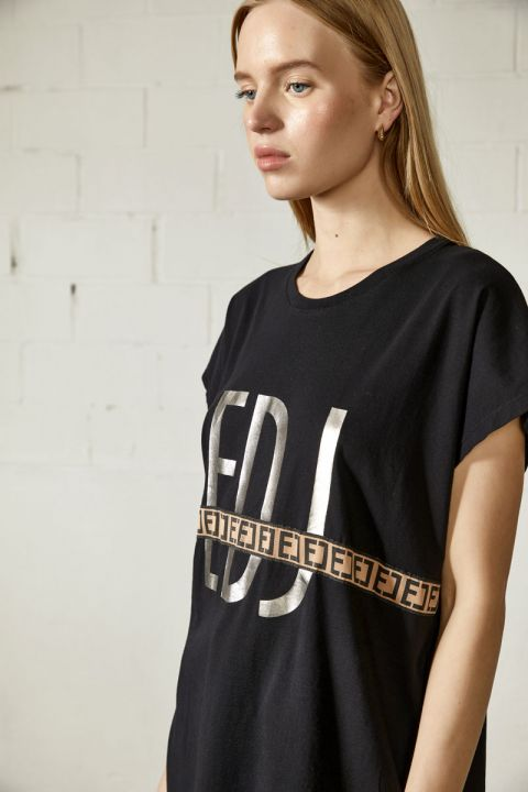 Lorine T-Shirt, BLACK
