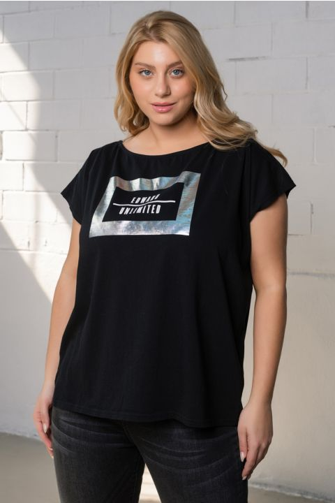 JADE/ULTD T-SHIRT, BLACK