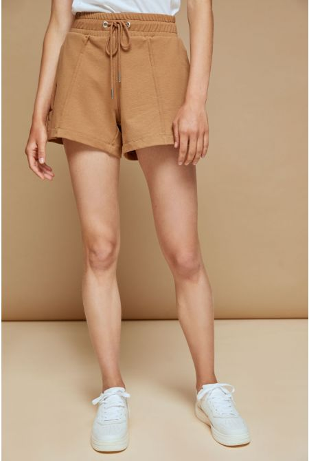 Ambra sweat shorts, ALMOND