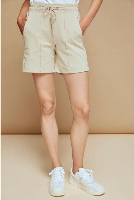 Bredda sweat shorts, BEIGE