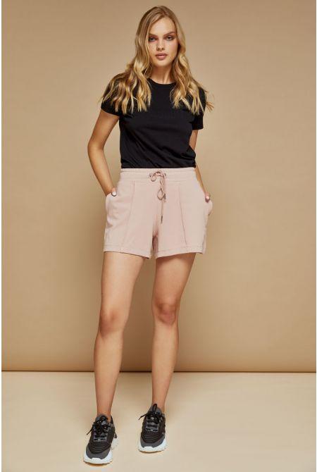 Ambra sweat shorts, OLD ROSE