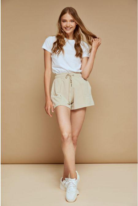 Ambra sweat shorts, BEIGE