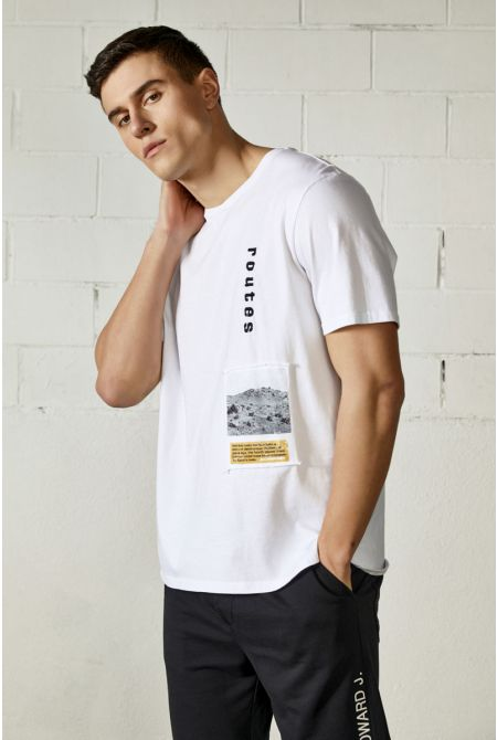 ROUTES T-SHIRT, WHITE