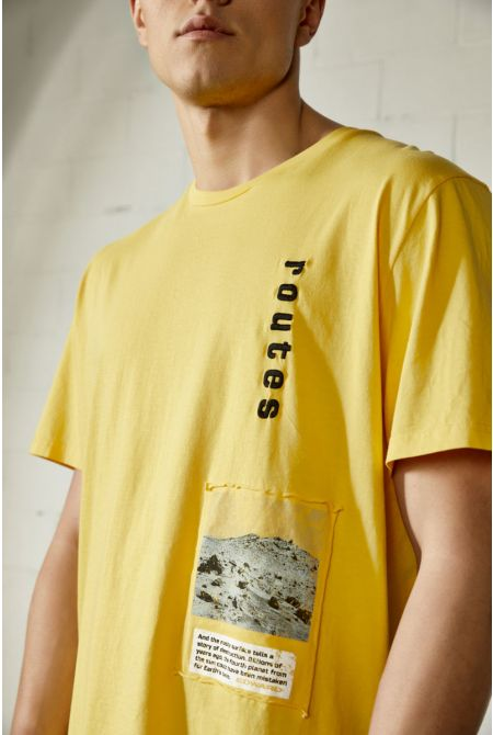 ROUTES T-SHIRT, YELLOW
