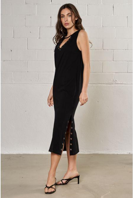 MALISE DRESS, BLACK