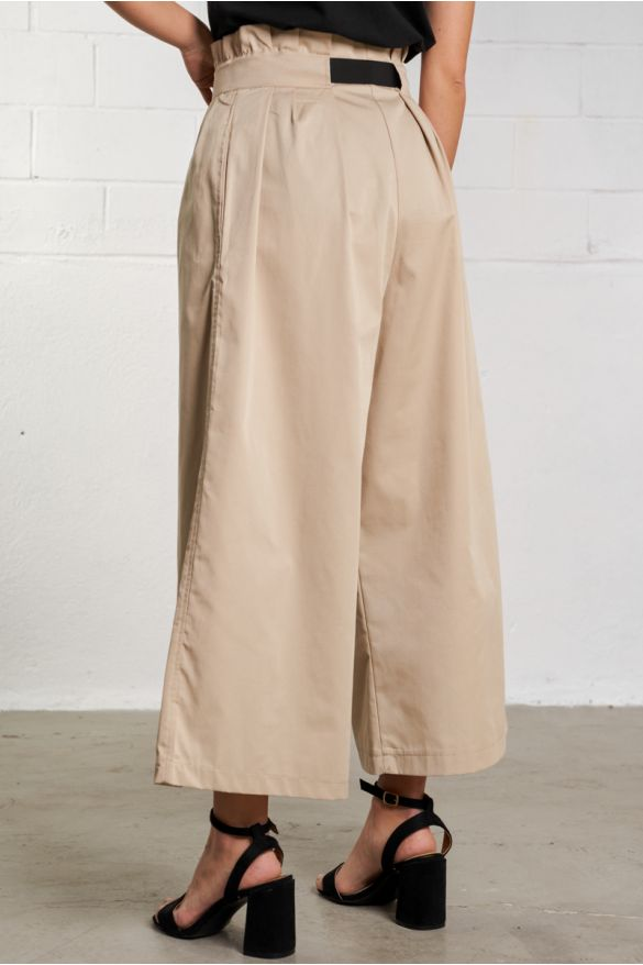 B281 Pleated Wide Leg Pants