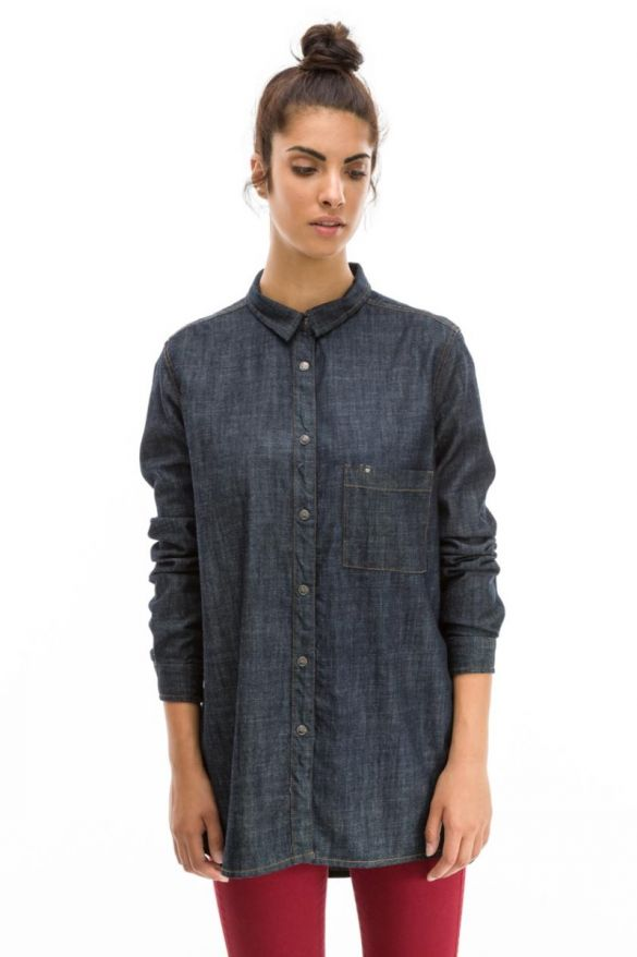 TOMLIN-WH JEANS SHIRT