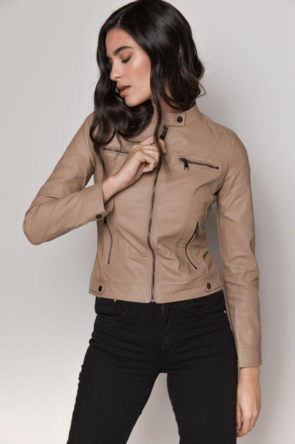 Bn-20021 Eco Leather Jacket