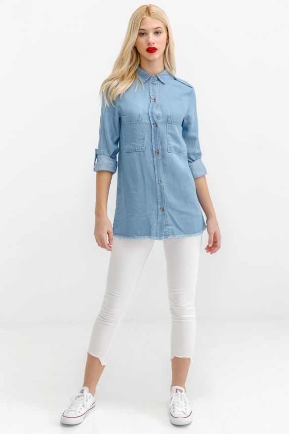 Madelyn-Mis Denim Shirt