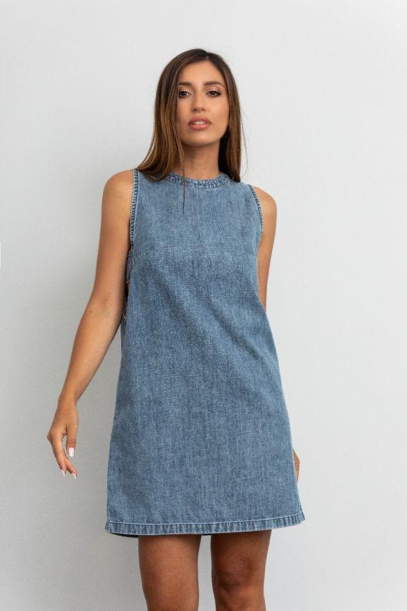 Joni-Wh  Denim Dress
