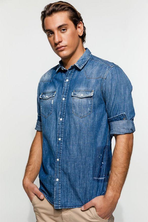 Gester-Wh Denim Shirt