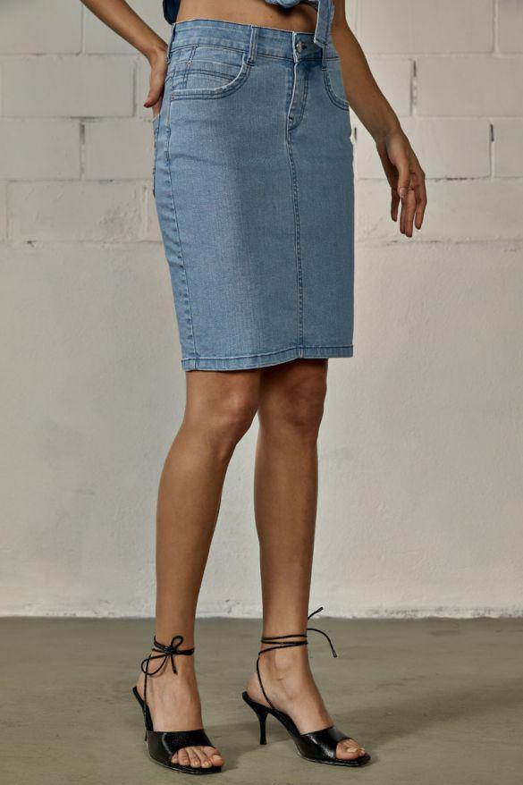 Kaniela-203 Denim Skirt