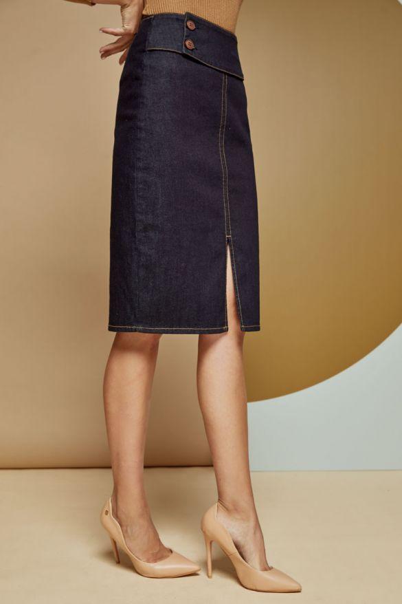 Aceline-Ob Denim Skirt