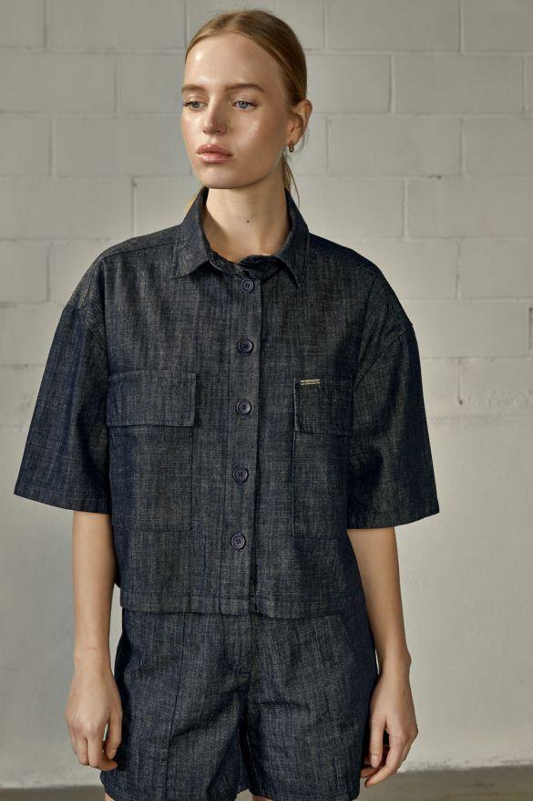 Tanith-Wh Denim Shirt
