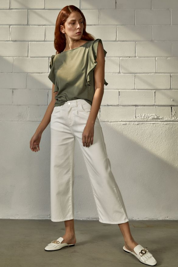 Elika-Rms Cropped Clr Jeans