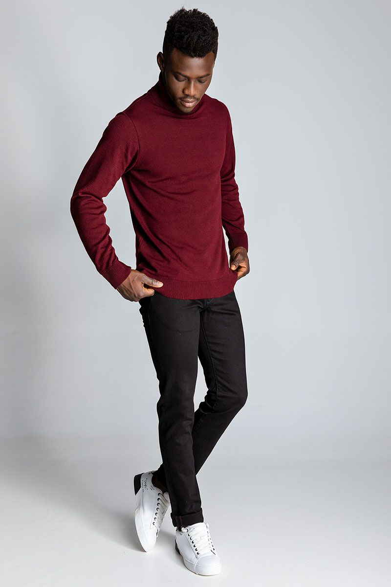 FARGO KNITTED SWEATER, BORDEAUX