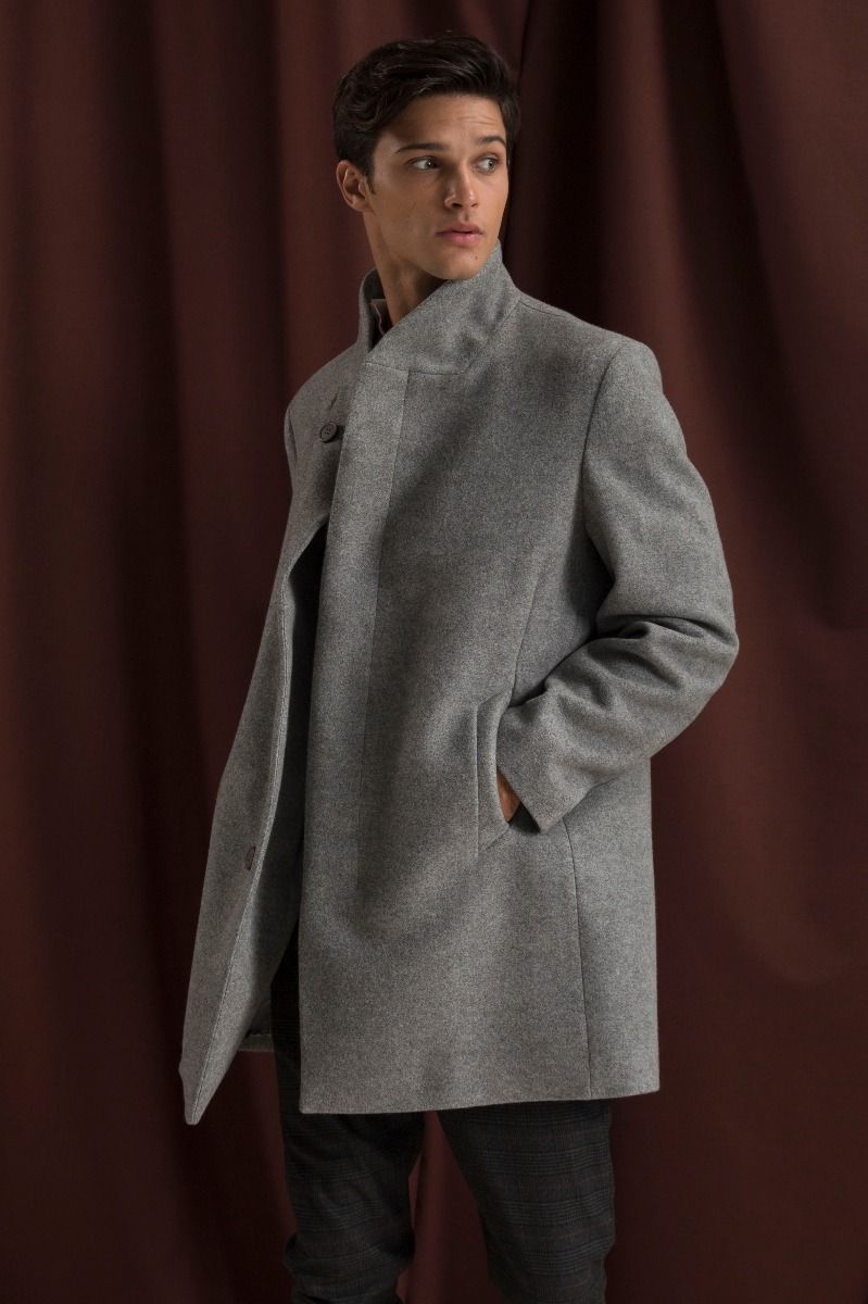 AQUILA-W20 COAT, LIGHT GRAY
