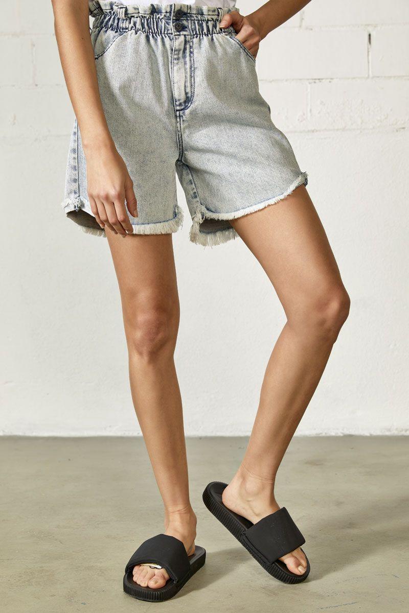 Shalin-Rjn Denim Shorts, LIGHT BLUE DENIM