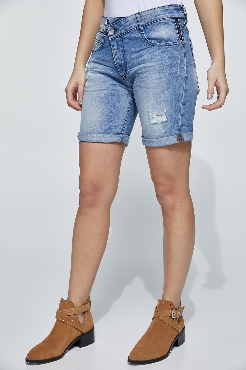 Lapis-987 Denim Shorts